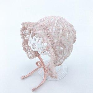 Baby Hut Spitzehut Weibliche Babysommerhut Newborn gereinigte Baumwolle Mesh-Spitze-Prinzessin 0-3-6 Monate