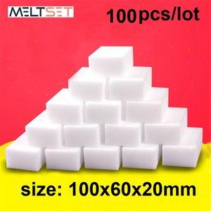 100 pz / lotto Magic Eraser Kitchen Kitchen Melammina Cleaner PULIZIA PULICE PER BAGNO DI UFFICIO C1007