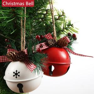 Navidad del cascabeleo Hierro forjado Big Bell Decoración colgante de Navidad Bell colgante de Navidad Adornos de Año Nuevo Partido Juguetes para niños 100pcs T1I2651