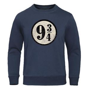 Tren a Hogwarts 934 camiseta de la vendimia de la plataforma nueve y tres cuartos suéter con capucha Casual Streetwear Hombres Hoodies de los hombres