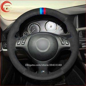 Черные замшевые автомобильные крышки рулевого колеса для BMW M Sport E46 330i 330Ci E39 540i