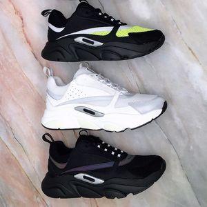 2021 Femmes Hommes B22 Casual Sneaker Chaussures Calfskin Entraîneurs Hommes Femmes Casual Shoe Appartements Sneaker en plein air Patchwork Sneaker Casual avec boîte
