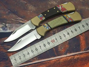 2020 Field Knives: 112 tail folding knife, blade S30V, handle copper head and tail, pattern stone + acrylic glue