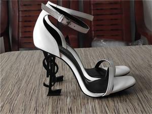 2020 Модельер Женская обувь Донные Высокие каблуки Nude Черная кожа носками НасосыYSL платье обувь Mid Heeled обувь 05FG5DF5