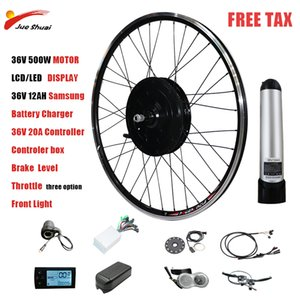 Electric Bike kit with Battery 36V 500W Motor Ebike Conversion Kit LCD LED Display Disc  V Brake Scooter Controller
