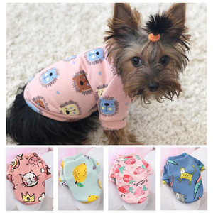 Cute Pattern Small Dog Hoodie Coat Winter Warm Pet Clothes for Chihuahua Shih Tzu Sweatshirt Puppy Cat Pullover Dog Costume 20A