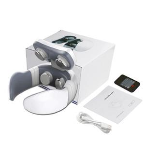 Novo Smart 4D elétrica Neck Massager pulso magnético aquecida Far Infrared Aquecimento alívio da dor cervical massagem com controle remoto