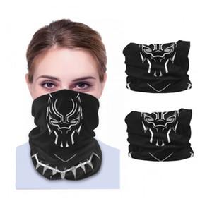 Wholesale- The BLACK PANTHER Erik Killmonger Seamless Neck Gaiter Shield Scarf Bandana Face Masks Motorcycle Cycling Running Headbands
