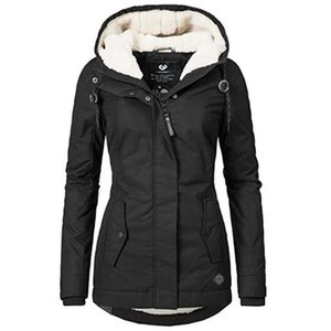 DUUTI Women Parka Coat Winter New Hooded Thicken Cotton Outdoor Warm Jacket Ladies Simple Mid Long Wadded Basic Coat Outwear D20 201023