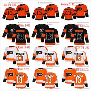 Nuevos folletos de Filadelfia Hockey sobre hielo # 13 lil peep moda jerseys moda estrella personalizado naranja negro blanco hombres mujeres juventud niño s-xxxl