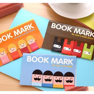 Wholesale- 4Pcs Pack New Korean Stationery Super Cute Kawaii Boys And Girls Magnetic Bookmark School Office Kids Ninja H0121 Oy38D