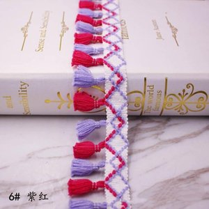 10 yards Lot Spitze Quaste Ribbon Baumwolle Quasten Trimmen Fransen zum Nähen Bett Blatt Kleidung Vorhänge DIY Zubehör Dekoration H Jllwvk