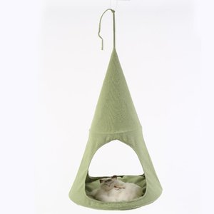 Summer linen Cat Hammocks Beds Breathable Comfortable Hanging Beds for Pet Puppy Soft Bed Cages Pet Rest Cushions CW046