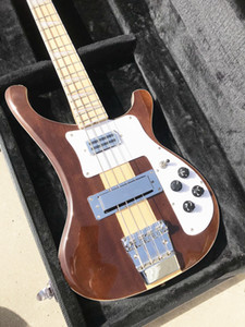 4003W Naturale Noce Basso 4 corde basse NOCE corpo Vintage Ric 4003 Bass Electric Guitar Neck Thru corpo
