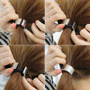 Fashion Women Accessories Headbands Long Hair Minimalism Geometric Alloy Jewelry Party Girls Rubber Headbands