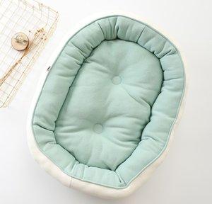 Модная сплошной цвета ПЭТ кровать для использования с двух сторон зимы теплого животным конуры собака кровати