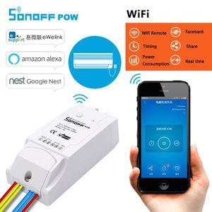 Sonoff Pow WiFi interruptor de control remoto 16A Consumo de energía de medición interruptores de luz inalámbricos inteligentes para el hogar inteligente con