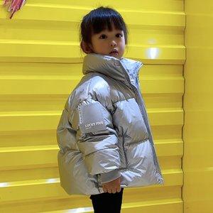 Olekid Enfants Manteau d'hiver Version coréenne Veste étanche brillante pour filles 3-12 ans enfants adolescents garçons parka 201030