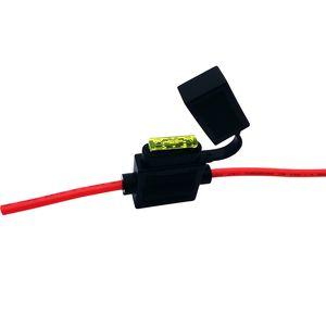 Factory direct sale medium-sized insert fuse holder car fuse box IP67 dustproof car black fuse holder
