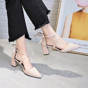 2020 Sandals Breathable Shoes Women Pumps High Heel Wedding New Female Fashion Office Shoes Sexy women fashion U14-90