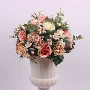 38cm yapay çiçek satır çelenk dekor ev perde düğün yol kurşun köşe çiçek duvar ipek centerpieces topu gül