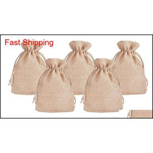 7x9cm 9x12cm 10x15cm 13x18cm Original Color Mini Pouch Jute Bag Linen Hemp Jewelry Gift Pouch Drawstring Bags For jllQmW lottery2010