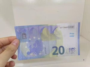 Simulazione transfrontaliera 20 Euro FAKE BankNotes Pellicola giocattolo e televisione Shooting Puntelli Practice Banknote Game tokens