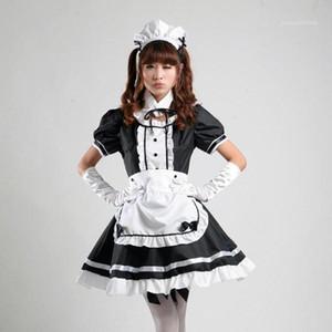 Seksi Hizmetçi Cosplay Kostüm Tatlı Kadın Lolita Elbise Anime Cosplay Sissy Hizmetçi Üniforma Artı Boyutu Cadılar Bayramı Kostümleri S-3XL1