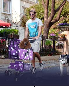 Moda Dobrável Cat Stroller Destacável Split Pet Kit Pet Stroller Four Seasons Quatro - Cão De Rodas Casa1
