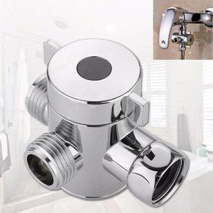 1/2 인치 욕실 3 웨이 T- 어댑터 밸브 화장실 비데 샤워 헤드 다이 버터 티 커넥터 샤워 헤드 션트 기능 스위치