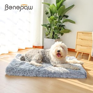 Benepaw Ultra Comfort Orthopedic Foam Dog Bed Plush Cosy Skid-resistant Waterproof Pet Mattress Puppy Mat Removable Cover