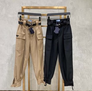 Fashion Women Cargohose ohne Gürtel-Frauen-beiläufige lange Hosen-Schwarz Khaki kühlen Street mit Taschen Größe M L XL