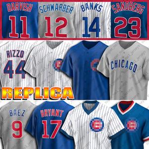Özel 9 Javier Baez Jersey 17 Kris Bryant Formalar 44 Anthony Rizzo Jersey 23 Ryne Sandberg 12 Kyle Schwarber 11 Yu Derviş Beyzbol Jersey