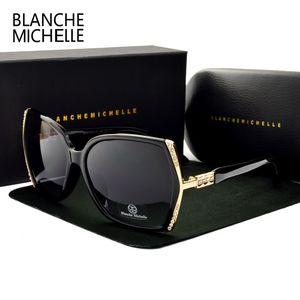 Blanche Polarisierte High Oculos Übergroße Gradient Sonnenbrille Sonnenbrille Qualität Sol Fahren Michelle Frauen de UV400 mit Box 1006 pccog