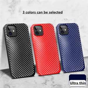 carbon fiber PP Ultra thin Phone Case for iPhone 12 11 Pro MAX XS XR 7 8 plus SE back cover cell shell