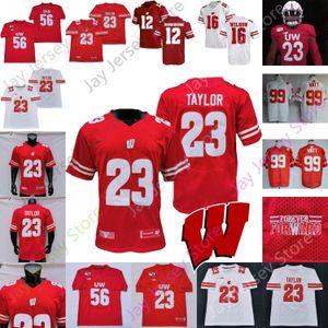 Wisconsin Badgers Football Jersey NCAA College J.J Watt Russell Wilson Jake Ferguson Nakia Watson Groshek Davis III Graham Mertz Guerendo
