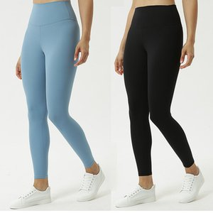 Frauen Yogahosen der hohen Taille nackt Fitness-Trainingshose insgesamt fest hohe elastische Dame Yoga Leggings Yoga Outfits L-011