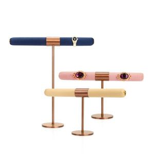 Jewelry Display Stand Metal T Cross Bar Rings Prop Holder Jewellery Boutique Shelf Counter Showcase Trade Show Exhibiting Furniture