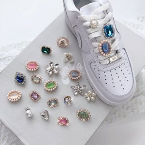 2pcs pair Shoelace Buckle Metal Shoelaces Shoe buckle Accessories Lock DIY Sneaker Kits stone Lace Buckle Individual pearl accessories