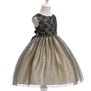 BOTEZAI 2018 новый платье девушки цветка официально платья партии девочка лето новый лук платье девушка