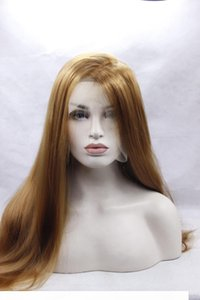 Fashion lace front Synthetic Women's Long straight lace wig