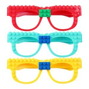 Huiqibao komik gözlük çerçeve taban plakası yapı taşları şehir çocuklar için klasik diy tuğla taban plaka eğitici oyuncak