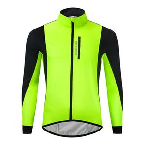 السترة في الهواء الطلق تشغيل معطف طويل الأكمام جيرسي الشتاء الشتاء الملابس ركوب الدراجات ملابس بأكمام طويلة عاكس وجاكيتات الدراجة تنفس