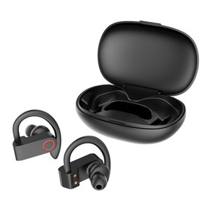 JHO-A9S A9 Bluetooth 5.0 Ear-mounted Wireless TWS Headset HiFi Sound HD Call Dynamic Headphone Auto Connection Ear Hanging Earphone