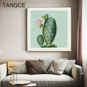 Flowering Cactus Canvas Painting Art Plant Poster Print Nordic Cactus Thorn Wall Picture for Living Room Modern Decoration Home