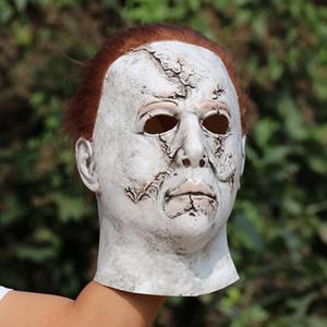 Halloween Michael Myers Maschera Horror Maschera di Carnevale Masquerade Cosplay adulti Casco festa piena di Halloween spaventoso Maggiore Maschere RRA3672