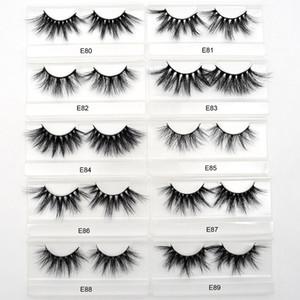 E80-E89 Handmade Private Label Mink 25mm 30mm Lashes Bulks Wispy False 3d Mink Eyelashes Wholesale