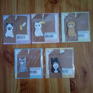 Funny Animal House Sticker Tab Sticky Notes Cute Cat Self-Adhesive Memo Pads Stationery Office School Supplies Free