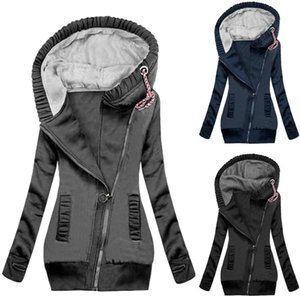 Women Slim Outerwear Elastic Waist Zipper Jacket Women Autumn Winter Long Sleeve Hoodie Coat Zipper Drawstring Hooded Outerwear