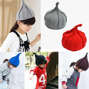 Autumn Winter Warm Cute Baby Hat Christmas Girls Boy Autumn Winter Weatherization Pointy Kids Knitted Hats Cap